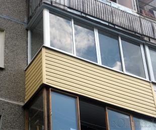 Балконная рама из алюминия. Брест. №1