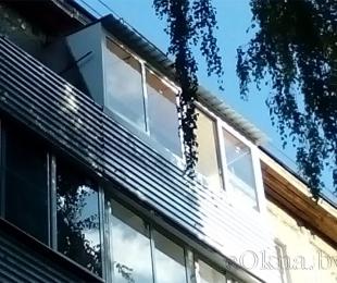 Балконная рама из алюминия. Брест. №6