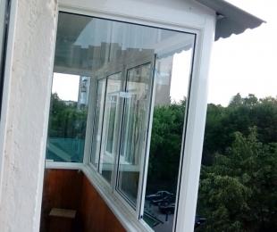 Балконная рама из алюминия. Брест. №5