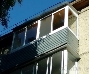 Балконная рама из алюминия. Брест. №7