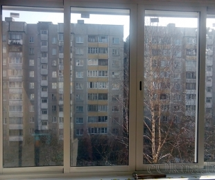 Балконная рама из алюминия. Брест. №2